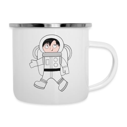Astronaut - Emaille-Tasse