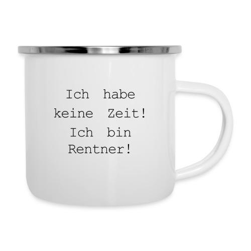 Rentner - Emaille-Tasse