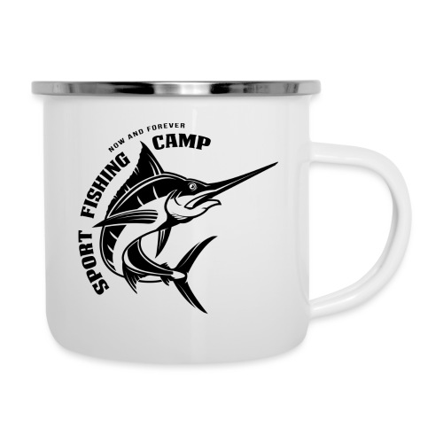 Fishing Camp - Emaille-Tasse