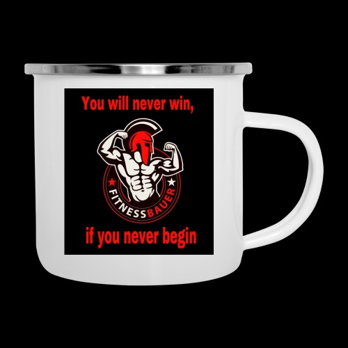 You will never win - Emaille-Tasse