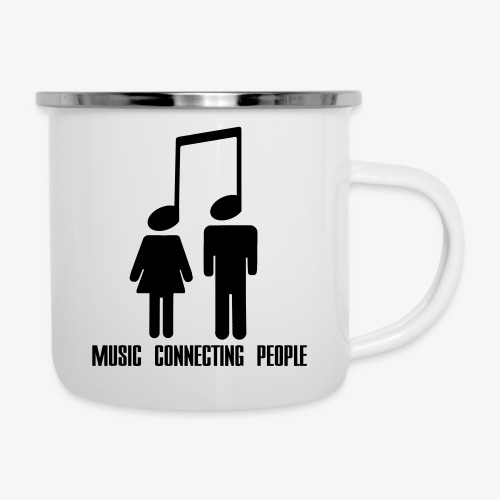 Music Connecting People - Emaille-Tasse