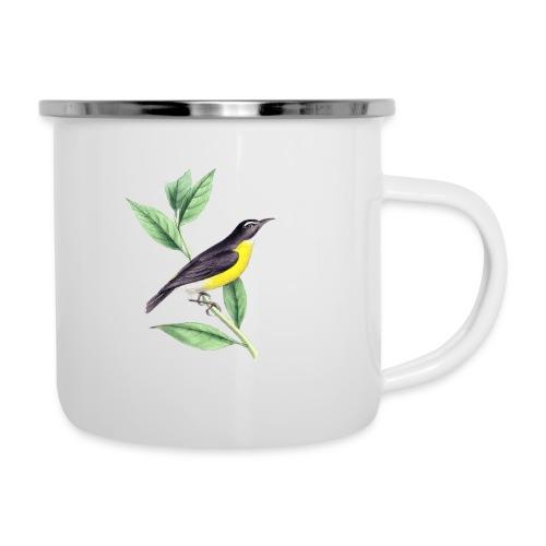 bird yellow-black - Emaille-Tasse