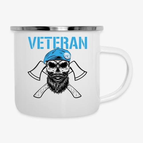 FN-veteran - Korslagda yxor - Emaljmugg