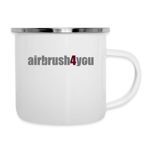 Airbrush - Emaille-Tasse
