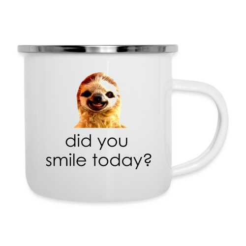 did you smile today? - Emaljekrus