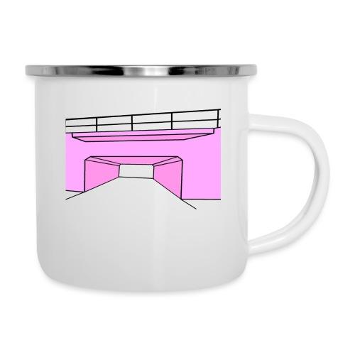 Pink Tunnel - Emaljmugg