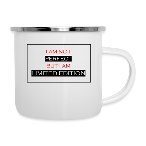 I am not perfect - but i am limited edition - Emaille mok