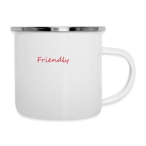 Friendly - Emaille-Tasse