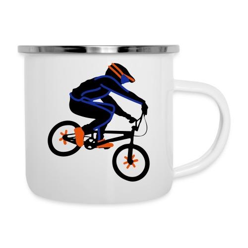 BMX Rider Dark - Emaille mok