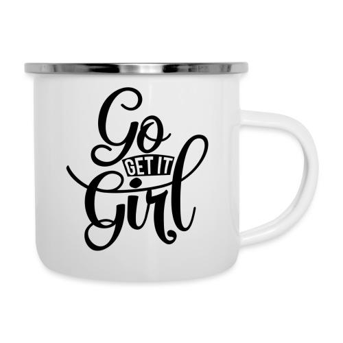 Go get it girl opdruk - Emaille mok