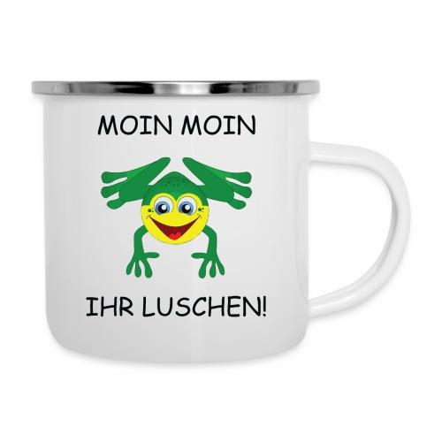 Frosch Tasse - Emaille-Tasse