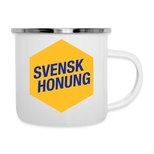 Svensk honung Hexagon Gul/Blå - Emaljmugg