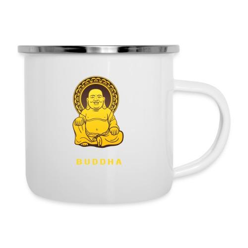 Funky Buddha - Emaille-Tasse