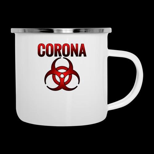 Corona Virus CORONA Pandemie - Emaille-Tasse