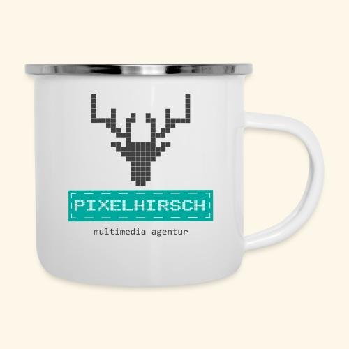 PIXELHIRSCH - Logo - Emaille-Tasse
