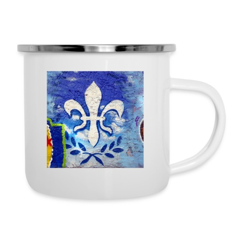 Graffiti Lilie - Emaille-Tasse