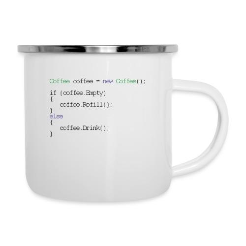 Kaffee Design für Programmierer und Coder - css - Emaille-Tasse