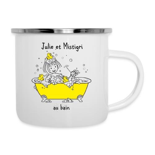 Julie et Mistigri au bain - Tasse émaillée