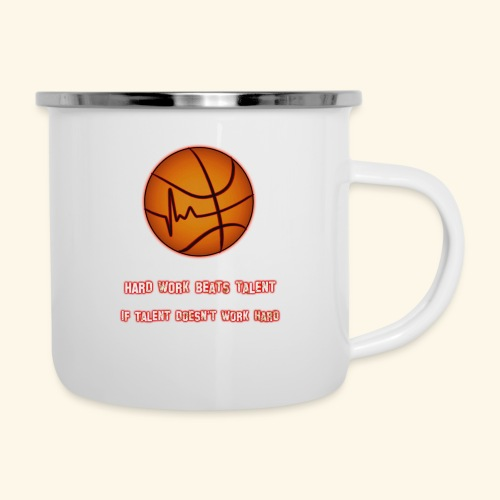 Basketball - HARD WORK BEATS TALENT - Emaille-Tasse