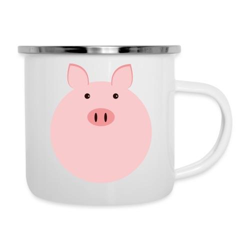 Schweinchen Fred - Emaille-Tasse