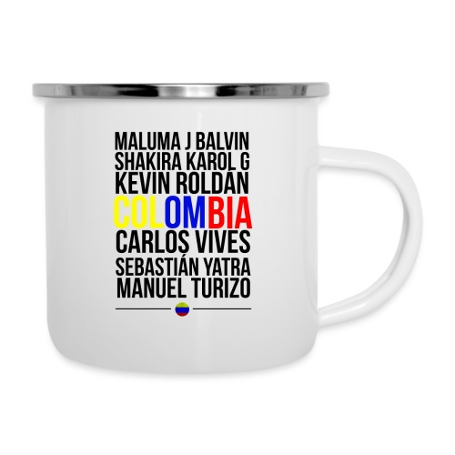Reggaeton Shirt Kolumbien - Emaille-Tasse