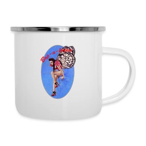 Vintage Rockabilly Butterfly Pin-up Design - Camper Mug
