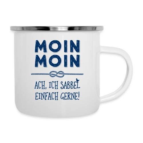 Moin Kapitän maritimer Schnack - Emaille-Tasse