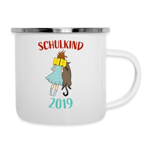 Schulkind 2019   Einschulung und Schulanfang - Emaille-Tasse