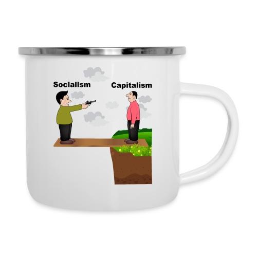 Sozialismus gegen Kapitalismus konservativ - Emaille-Tasse