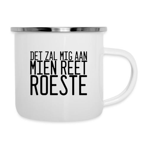 Reet roeste. - Emaille mok