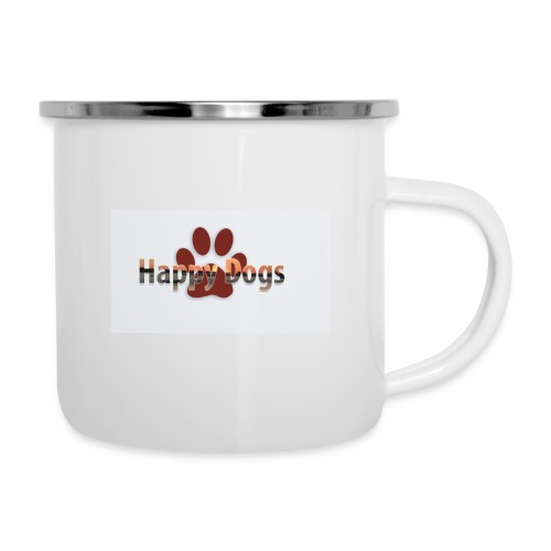 Happy dogs - Emaille-Tasse