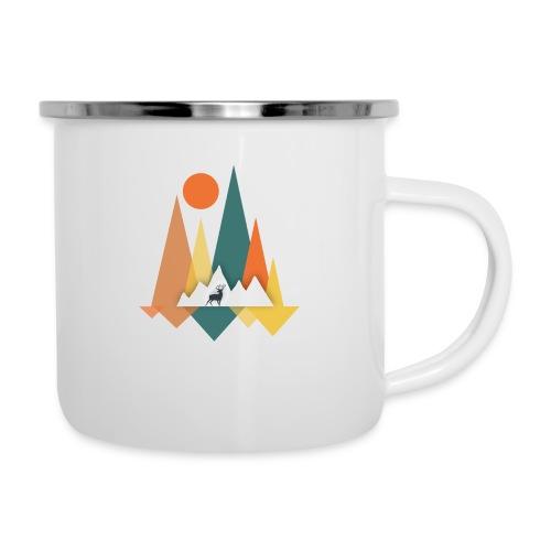 Berge - Emaille-Tasse