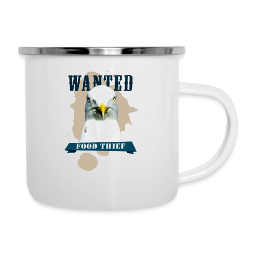 WANTED - FOOD THIEF - Emaille-Tasse