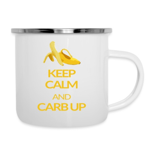 KEEP CALM and CARB UP - Emaille-Tasse