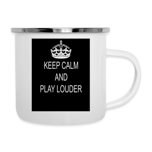 keep calm play loud - Tasse émaillée