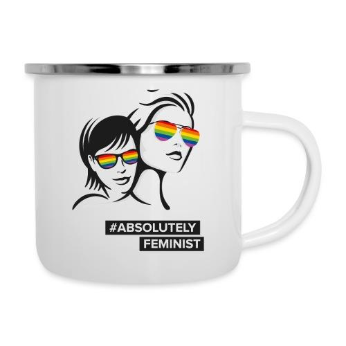 L-BEACH Rainbow Glasses - Emaille-Tasse