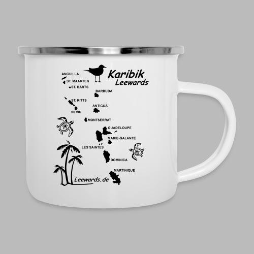 Karibik Leewards Segeln Leward Islands - Emaille-Tasse