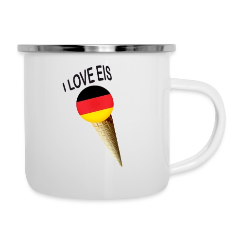 Fußball WM Fan Geschenk - Emaille-Tasse