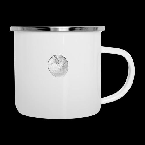 Apfel - Emaille-Tasse