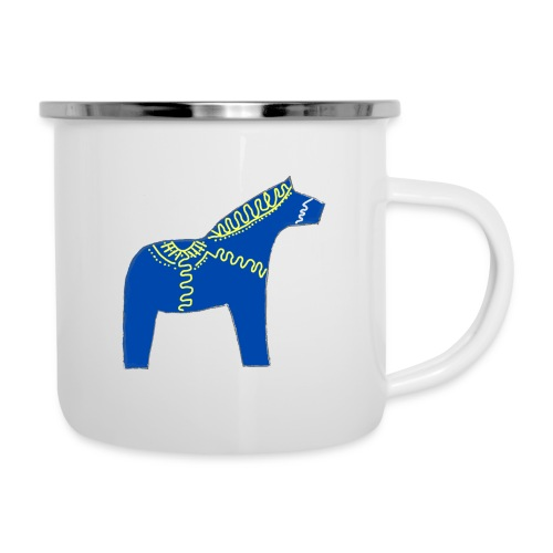 Dala by Pinni Art® blue - Emaille-Tasse