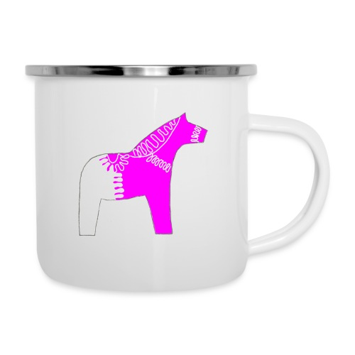 Dala by Pinni Art® pink - Emaille-Tasse