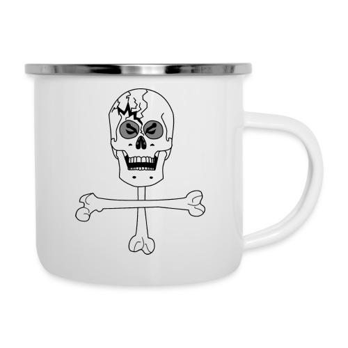 Crâne et croix d'os …Halloween fais moi peur FS FC - Tasse émaillée