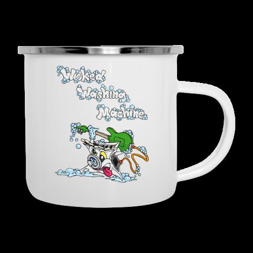Wicked Washing Machine Cartoon and Logo - Emaille mok