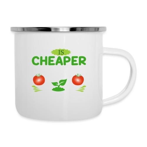 Garten Gartenarbeit Therapie Tomaten Hobbygärtner - Emaille-Tasse