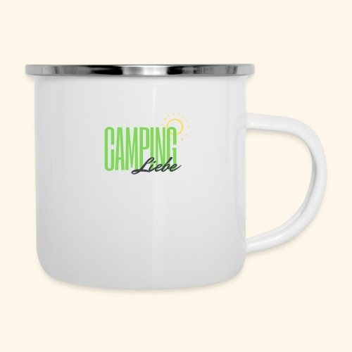 Campingliebe - Emaille-Tasse