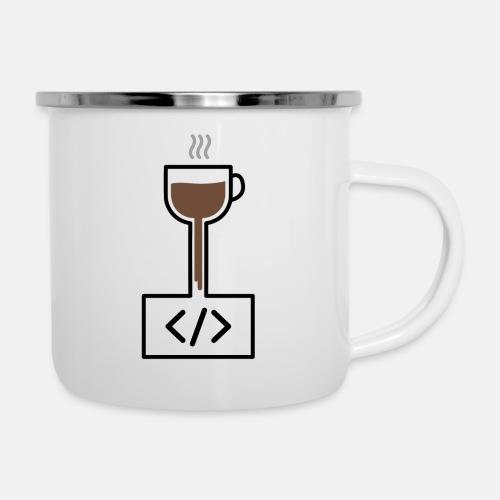 Coffee to Code - Programming T-Shirt - Camper Mug