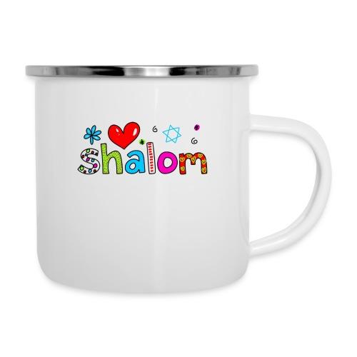 Shalom II - Emaille-Tasse
