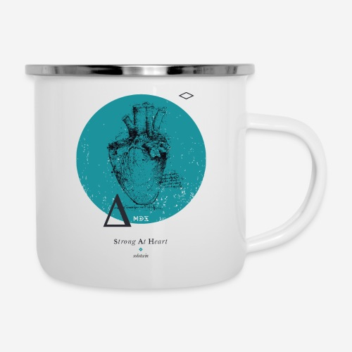Strong At Heart ♡ - Emaille-Tasse