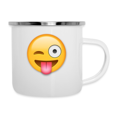 Winking Face - Emaille-Tasse