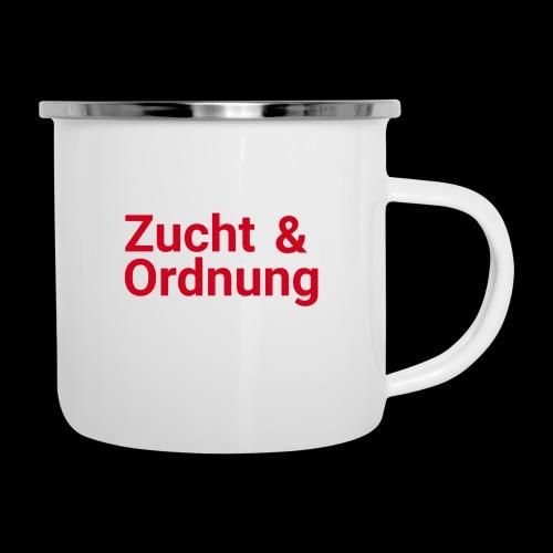 Zucht und Ordnung - Emaille-Tasse